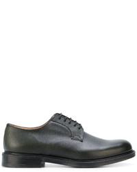 dunkelgrüne Leder Derby Schuhe von Church's