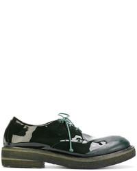 dunkelgrüne Leder Derby Schuhe von Marsèll