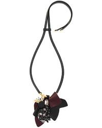 dunkelgrüne Leder Halskette von Marni
