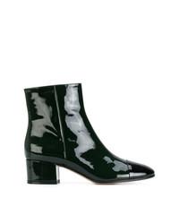dunkelgrüne Leder Stiefeletten von Gianvito Rossi