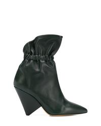 dunkelgrüne Leder Stiefeletten von Isabel Marant
