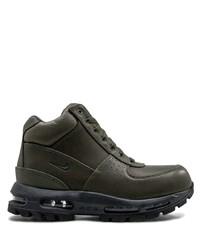 dunkelgrüne Lederarbeitsstiefel von Nike