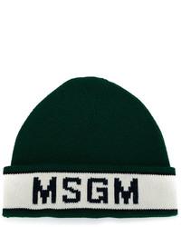 dunkelgrüne Mütze von MSGM