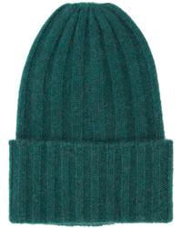 dunkelgrüne Mütze von The Elder Statesman