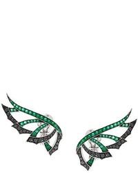dunkelgrüne Ohrringe