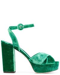 dunkelgrüne Sandalen von Dolce & Gabbana