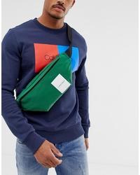 dunkelgrüne Segeltuch Bauchtasche von Calvin Klein