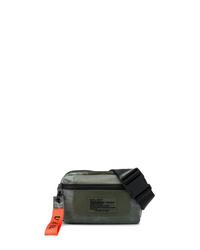 dunkelgrüne Segeltuch Bauchtasche von Diesel