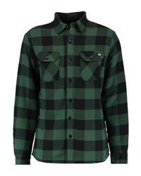 dunkelgrüne Shirtjacke mit Karomuster von Dickies