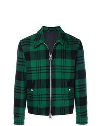 dunkelgrüne Shirtjacke mit Schottenmuster