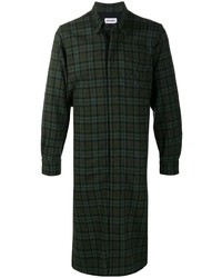 dunkelgrüne Shirtjacke mit Schottenmuster von Kenzo