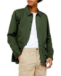 dunkelgrüne Shirtjacke