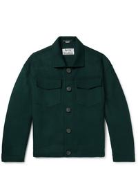 dunkelgrüne Shirtjacke von Acne Studios