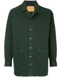 dunkelgrüne Shirtjacke von Cerruti 1881