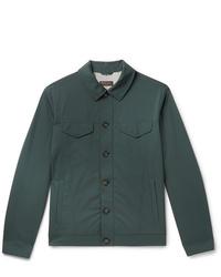 dunkelgrüne Shirtjacke von Loro Piana