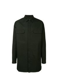 dunkelgrüne Shirtjacke von Rick Owens