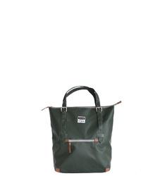 dunkelgrüne Shopper Tasche aus Leder von 7clouds