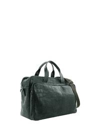dunkelgrüne Shopper Tasche aus Leder von Braun Büffel