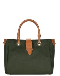 dunkelgrüne Shopper Tasche aus Leder von Bric's
