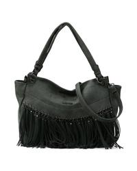 dunkelgrüne Shopper Tasche aus Leder von EMILY & NOAH