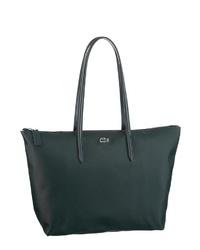 dunkelgrüne Shopper Tasche aus Leder von Lacoste