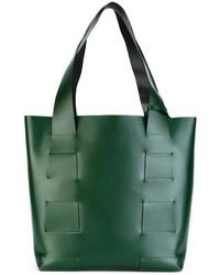 dunkelgrüne Shopper Tasche aus Leder von Robert Clergerie