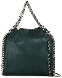 dunkelgrüne Shopper Tasche aus Leder von Stella McCartney