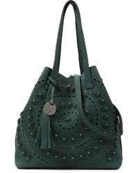dunkelgrüne Shopper Tasche aus Leder von SURI FREY