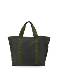 dunkelgrüne Shopper Tasche aus Segeltuch von Filson