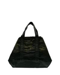 dunkelgrüne Shopper Tasche aus Segeltuch von Nemen