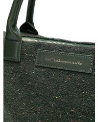 dunkelgrüne Shopper Tasche aus Segeltuch von WANT Les Essentiels de la Vie