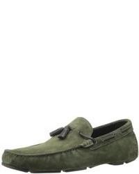 dunkelgrüne Slipper