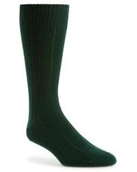 dunkelgrüne Socke