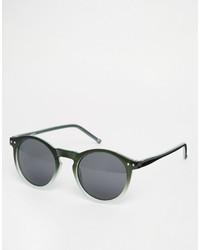 dunkelgrüne Sonnenbrille von Asos