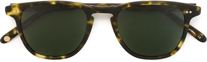 dunkelgrüne Sonnenbrille von Garrett Leight