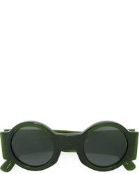 dunkelgrüne Sonnenbrille von Linda Farrow