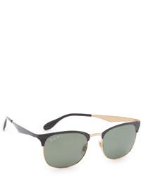 dunkelgrüne Sonnenbrille von Ray-Ban