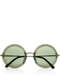 dunkelgrüne Sonnenbrille von The Row
