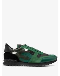 dunkelgrüne Sportschuhe von Valentino