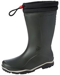 dunkelgrüne Stiefel von Dunlop
