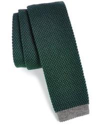 dunkelgrüne Strick Krawatte