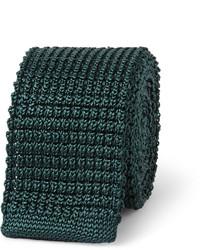 dunkelgrüne Strick Krawatte von Lanvin