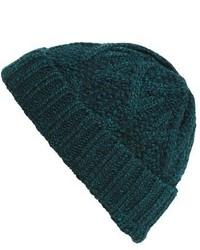 dunkelgrüne Strick Mütze