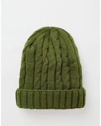 dunkelgrüne Strick Mütze von Asos
