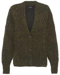 dunkelgrüne Strick Strickjacke mit einer offenen Front von Isabel Marant