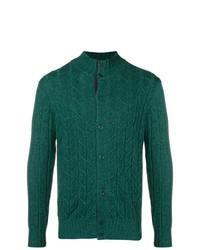 dunkelgrüne Strickjacke von Doriani Cashmere