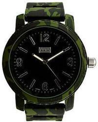 dunkelgrüne Uhr