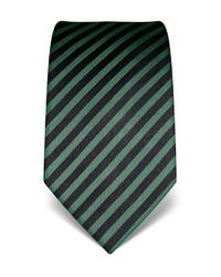 dunkelgrüne vertikal gestreifte Krawatte von Vincenzo Boretti