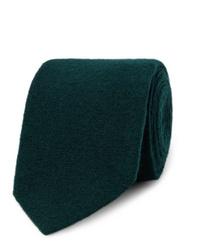 dunkelgrüne Wollkrawatte von Lardini