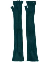 dunkelgrüne Wolllange handschuhe von Maison Margiela